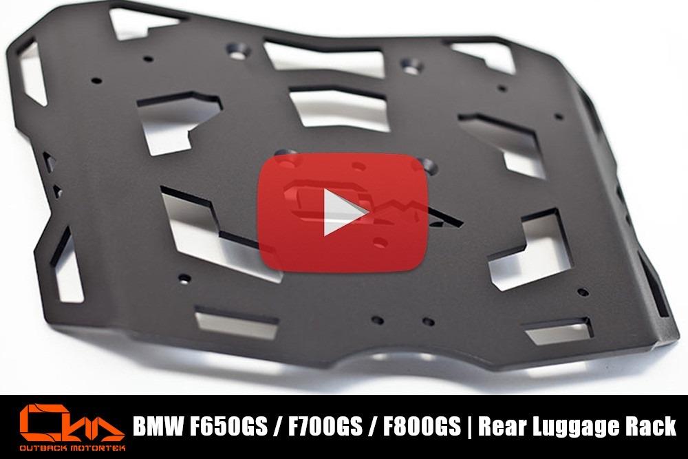BMW F650GS / F700GS / F800GS Rear Luggage Rack Installation