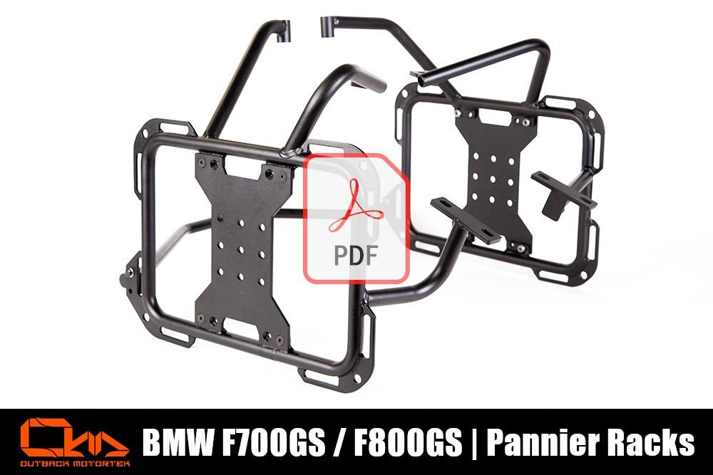 BMW F800GS Pannier Racks Installation