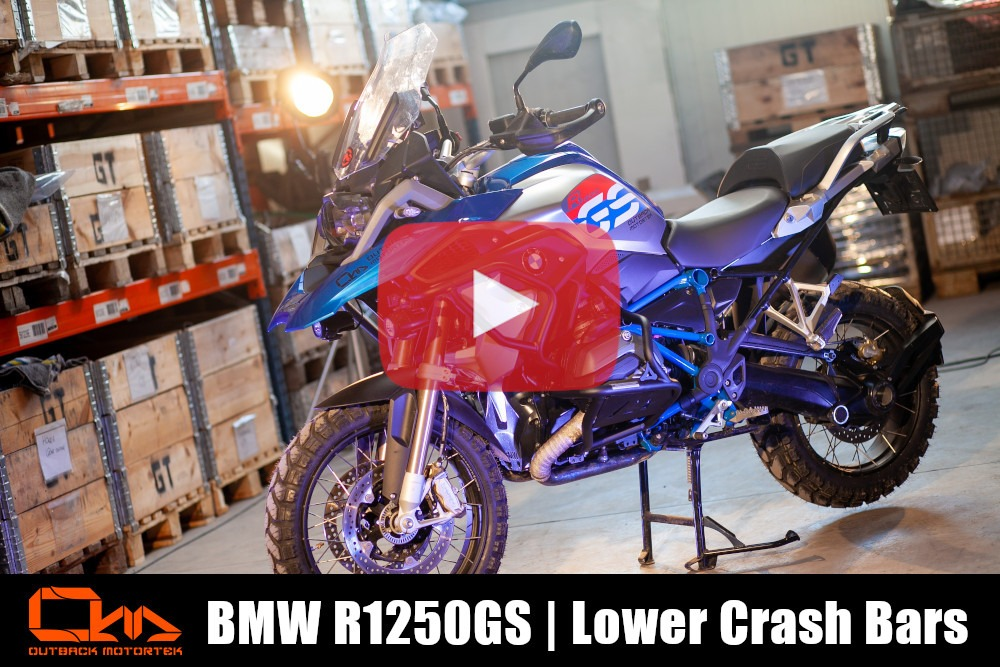 BMW R1250GS Lower Crash Bars Installation
