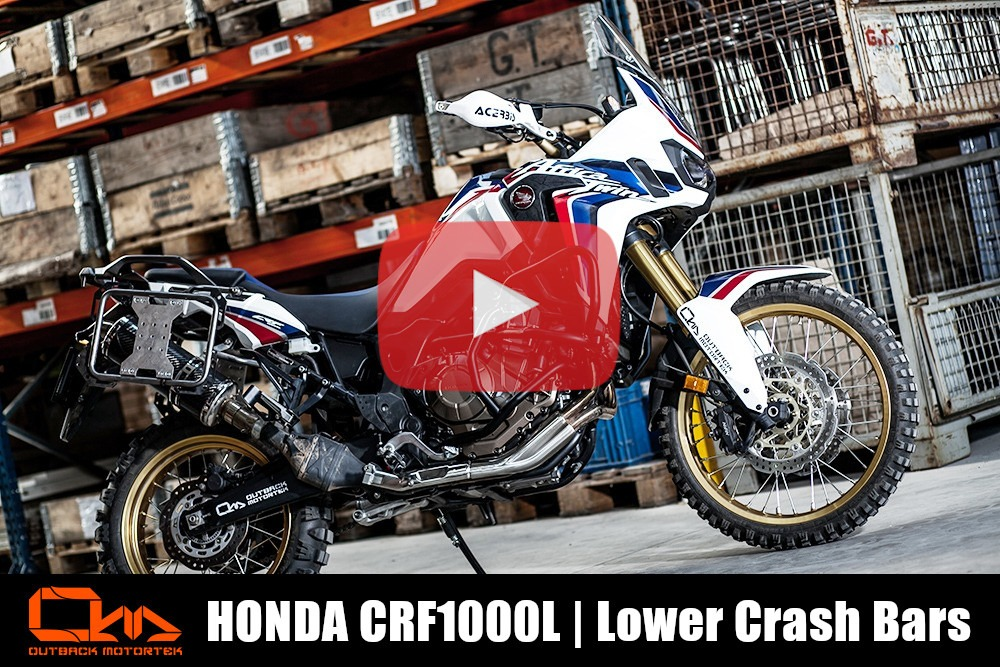 Honda CRF1000L Lower Crash Bars Installation