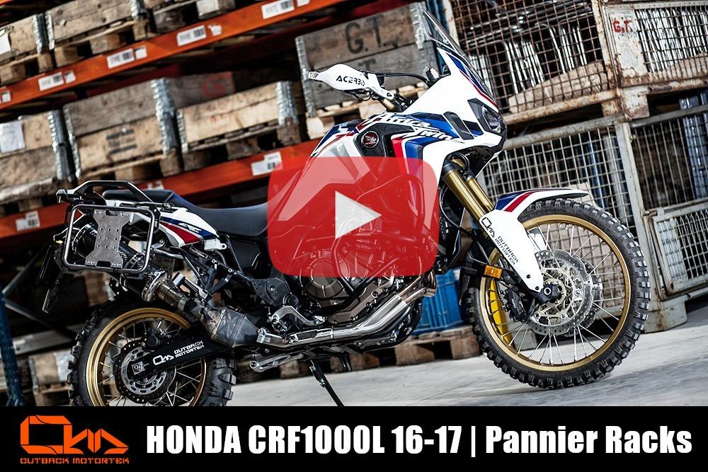 Honda CFR1000L Africa Twin 2016-2017 Pannier Racks Installation