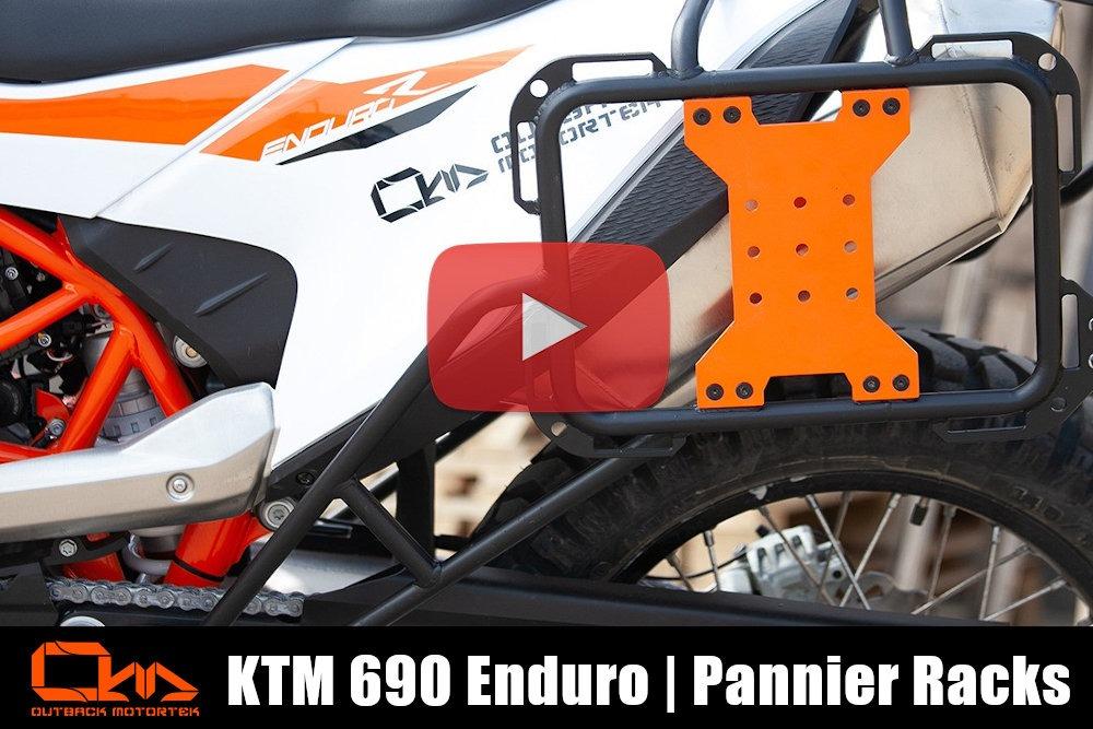 KTM 690 Enduro R Pannier Racks Installation