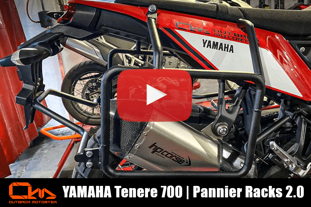 Yamaha Tenere 700 Pannier Racks 2.0 Installation Video