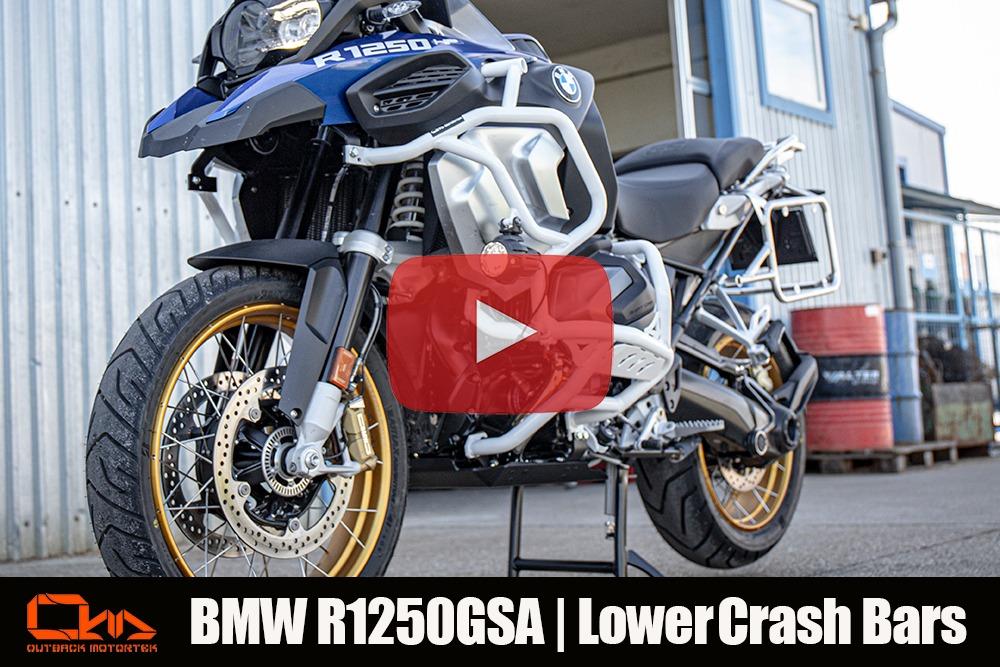 BMW R1250GSA Upper Crash Bars Installation